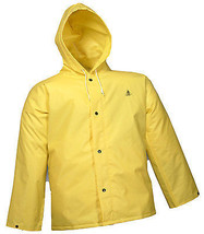 Durascrim Jacket, Yellow PVC, XXL - $25.73