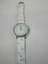 Vintage Bay Studio Flamingo Watch Ladies Blue White 52541 - $15.83