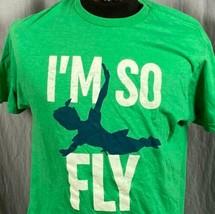 Walt Disney Peter Pan I'M Quindi Fly da Uomo Grande T-Shirt Perso Ragazzi Never - $24.70