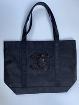 NEW  BLACK CHANEL BEAUTE CANVAS TOTE BAG +FREE EARRINGS - $75.00