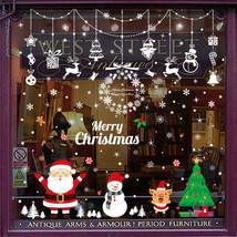 Fröhliche Weihnachten Tür Wand Fenster Geschäft Dekoration Aufkleber Abz... - $3.57+