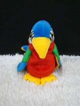 Ty Beanie Animal 1998 Jabber the Parrot, Bright Multi-Colored Plush, New w/ Tags - $5.93