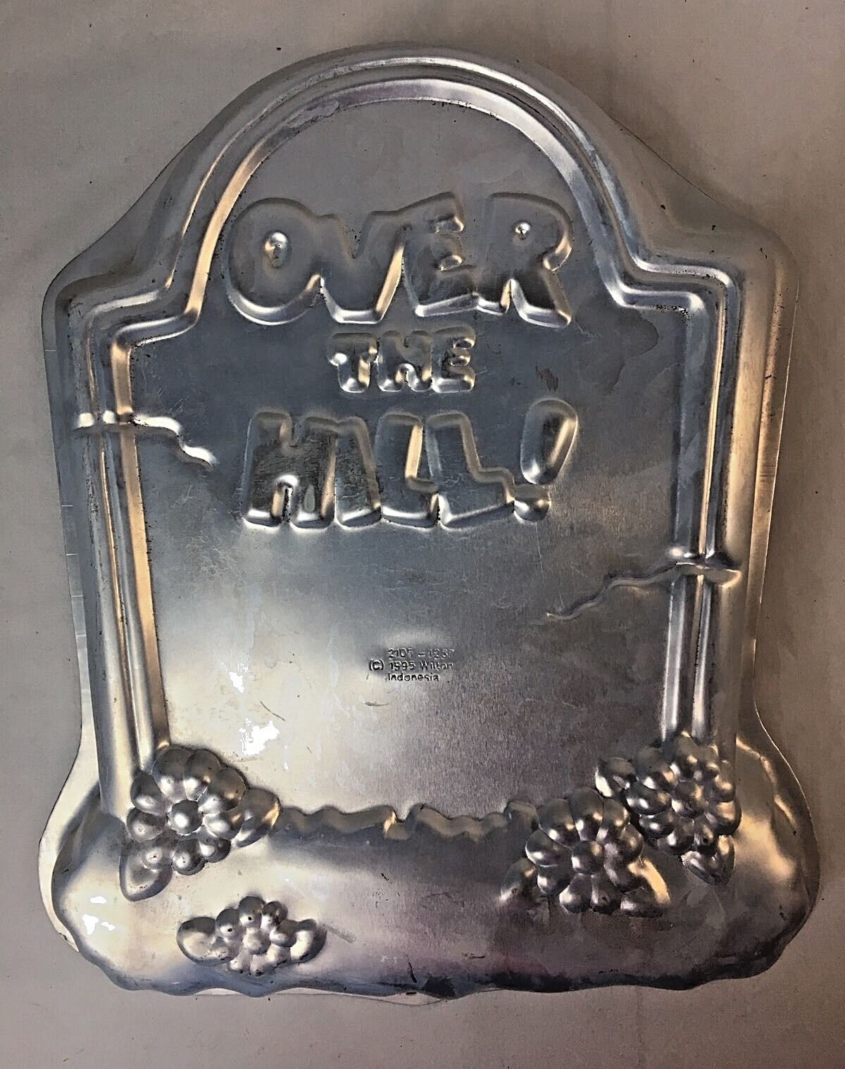 Vintage Over the Hill Cake Pan Mold Tombstone 2105-1237 40th 50th Birthday 1995 - $9.95