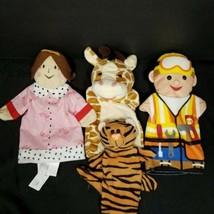 Hand Puppet Plush Giraffe Tiger Handyman Helper Queen Princess Gladlynt ... - $17.81