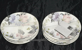 """222 Fifth Patio Rose * 8 APPETIZER PLATES * 6 3/8"""", Floral, NEW - $26.99"""