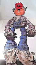 1982 Trend 4 Ft Tall Life Size Jointed Die Cut Halloween Scarecrow Decor... - €15,22 EUR