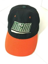Vintage 90s Miami Hurricanes Black/Orange Adjustable Back Hat Cap - €13,84 EUR