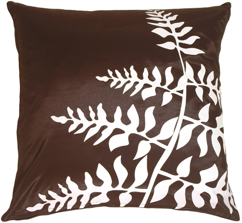 Primary image for Pillow Decor - Brown with White Bold Fern Throw Pillow