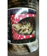 Kitten Cat Sleeping American Heritage Woodland Royal Plush Raschel Throw... - $23.75