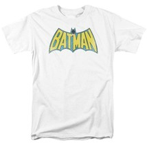 Batman Logo T-shirt SuperFriends retro 80s cartoon DC white graphic tee DCO209B image 2