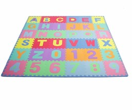 "BRANDNEW Kids Puzzle Alphabet, Numbers, 36 Tiles and Edges Play Mat, 12""... - $44.34"