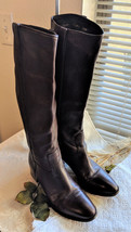 GUCCI Brown Pebbled Leather Riding Boots Size 38.5 or 7.5 - $369.55