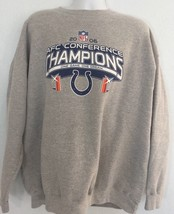2006 NFL AFC Conference Champions Colts 2XL Gray Crewneck Sweatshirt (bi... - $20.27