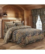 The Woods Camo Natural 12 Piece King Size Comforter and Sheet Set with C... - $109.25
