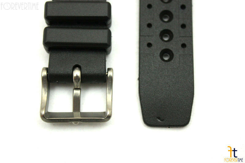 18mm for Citizen Black Rubber Divers Watch Band Strap Heavy Duty