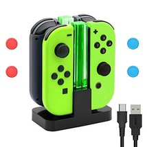 Charging Dock for Nintendo Switch Joy-Con, 4 in 1 Controller Charger Sta... - $14.45