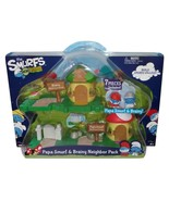 Smurfs Micro Village Papa and Brainy Neighbor Pack Playset - $22.00