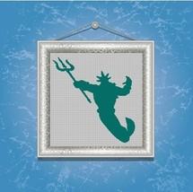 Triton silhouette cross stitch pattern in pdf -Chart Needlework Craft - $7.00