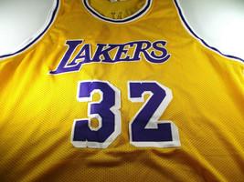 MAGIC JOHNSON / NBA HALL OF FAME / AUTOGRAPHED L.A. LAKERS CUSTOM JERSEY / COA image 2