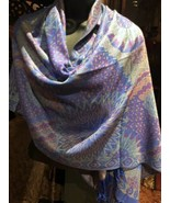 Nemesis Vintage Style Knit Brocade Pashmina Paisley Scarf Wrap - $39.75