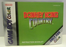 Donkey Kong Country (Nintendo Game Boy Color) - Instruction Booklet Manual ONLY - $3.95
