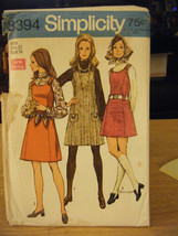 Simplicity 8394 Jumper, Blouse & Scarf Pattern - Size 12 Bust 34 - $11.58