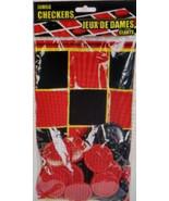 New 25 Piece Plastic Jumbo Checkers Game Set w - $6.99