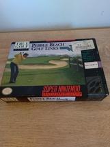 Super Nintendo SNES True Golf Classics: Pebble Beach Golf Links ~ COMPLETE image 1