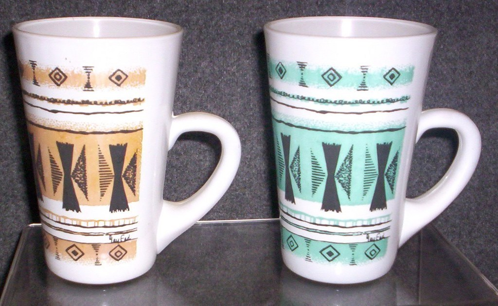 EAMES ERA MID CENTURY MODERN-- GAY FAD COFFEE MUGS - $19.95