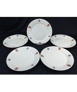 """(5) Vintage Masonic Dinner Plates WM Brunt Pottery East Liverpool Ohio 9"""" - $89.99"""