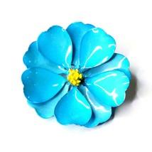 Vintage Blue flower brooch G75 - $30.05