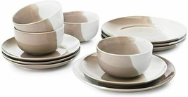 The Cellar 12-Pc. Taupe Porcelain Dinnerware Set, Service for 4 Plates B... - $79.20