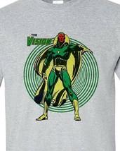 The Vision gray tee retro bronze age marvel comics avengers graphic t shirt image 1
