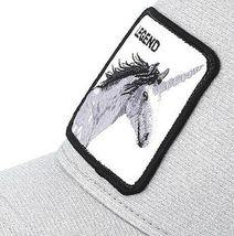 Goorin Bros Snapback Mesh Cap Unicorn Silver Glitter Grey Believer Trucker Hat image 6