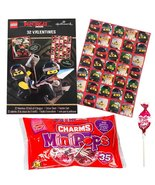 Lego Ninjago 32 Valentine Cards With Stickers and Charms Lollipops Bundle - $13.99