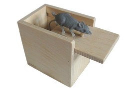 Hilarious Scare Box Mouse Prank - Wooden Home/Office Funny Made Amish toy - $18.76