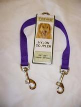 Formay 2 Way Nylon Dog Leash Coupler 5/8 Inch Purple 18 Inch  NEW  - $9.89