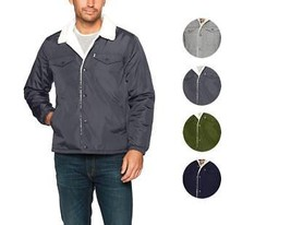 Levi's Men's Premium Multi Pocket Button Up Sherpa Coach Trucker Jacket
