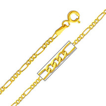 14k Yellow Gold 1.9-mm Figaro Chain Necklace - 16, 18, 20, 22, or 24 inches - $104.55