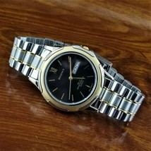 Mens Vintage REGENCY Silver & Gold TN Day Date Sport Watch 165'WR - $39.95