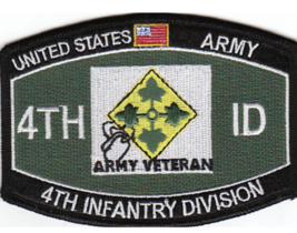 "4.5"" Army 4TH Infantry Division Mos Embroidered Patch - $23.74"