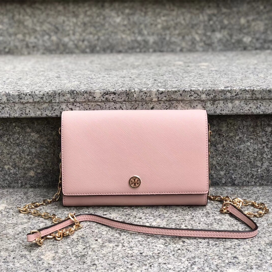 c332bd40c3 Tory Burch Robinson Chain Wallet (Color:Pale and 42 similar items