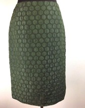 Anthropologie Maeve Goban Pencil Skirt 4 Green Polka Dot Knee Lngth Work... - $49.99