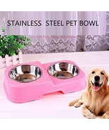 Tuchang Dog And Cat Stainless Steel Food Bowl And Water Bowl Pet Feeder ... - $32.91