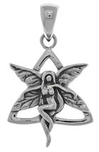Jewelry Trends Sterling Silver Celtic Trinity Knot Fairy Pendant - $22.99