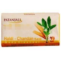PATANJALI NATURAL PERSONAL BODY CARE HALDI CHANDAN SOAP 75 GM  image 3
