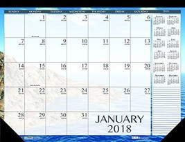 House of Doolittle 2018 Monthly Desk Pad Calendar, Earthscapes Seascapes... - $27.12