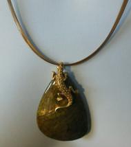 Chico's Triple Wire Strand Lizard Pendant Necklace - $33.66