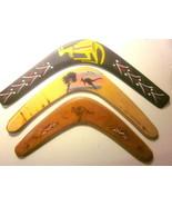 """3 Australian Wooden BOOMERANG Souvenir-type Pieces (14"""" to 16"""" in Length) - $29.35"""