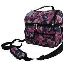 Pink Camouflage Infant Bottle Tote Bag Baby Keep Milk Fresh Bag Double-Deck
